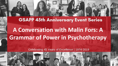 A CONVERSATION WITH MALIN FORS: A GRAMMAR OF POWER IN PSYCHOTHERAPY