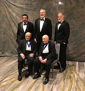 Roy Aranda with honorees